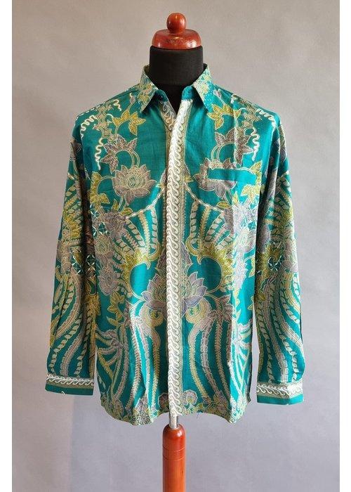 Batik overhemd lange mouw 0204-09