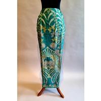 Kebaya lentegroen korte mouw met bijpassende sarong