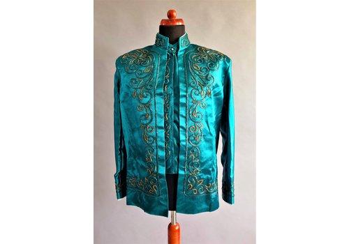 Kostuum 3-delig in turquoise kleur