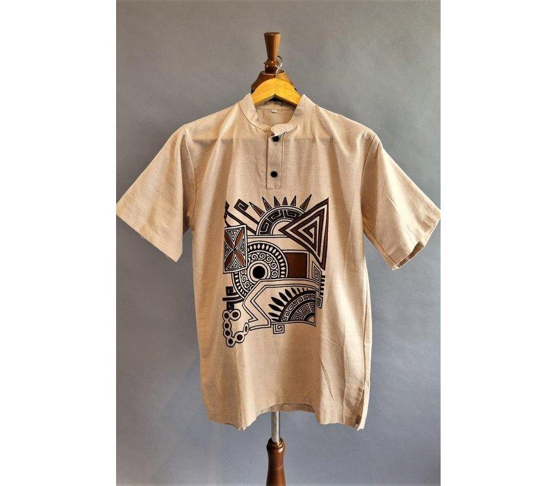 Etnisch shirts korte mouw 01