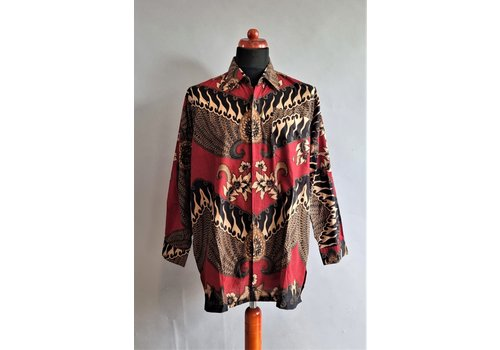 Batik overhemd lange mouw 2104-01