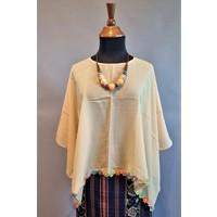 Kebaya cape geborduurd met bijpassende sarong
