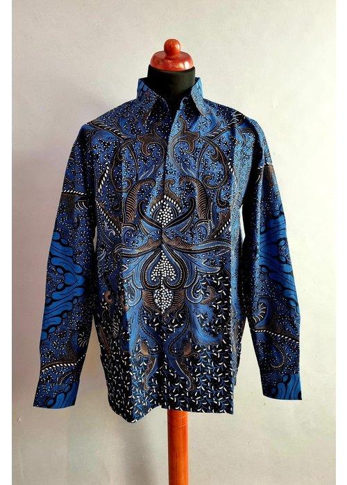 Batik overhemd lange mouw 1006-01