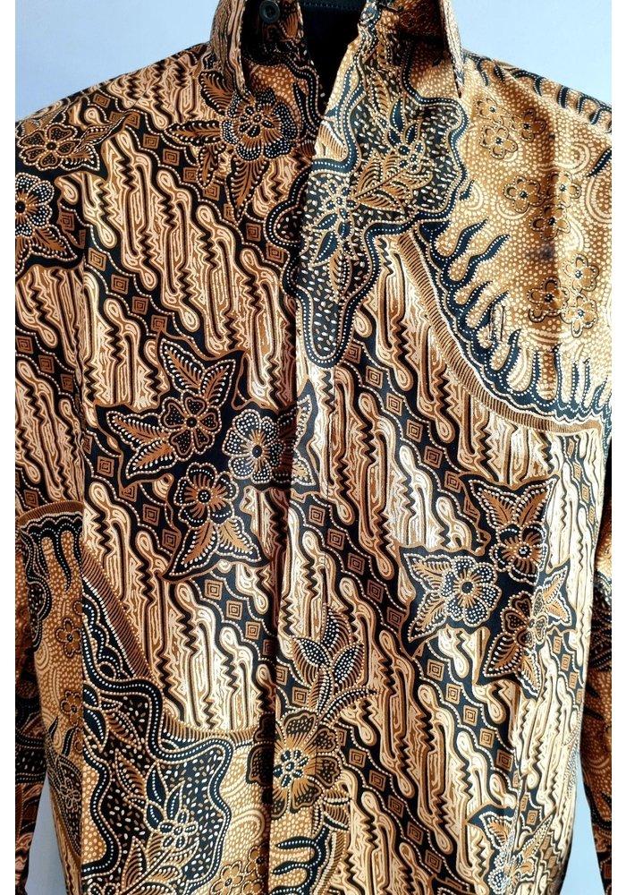 Batik overhemd lange mouw 1006-02