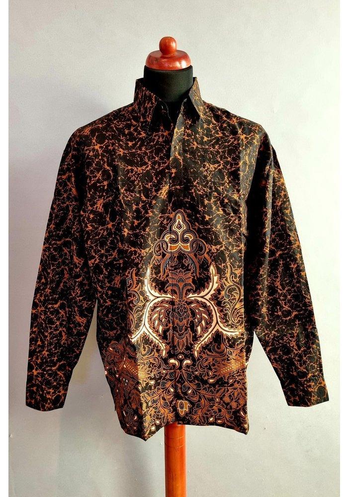 Batik overhemd lange mouw 1006-03