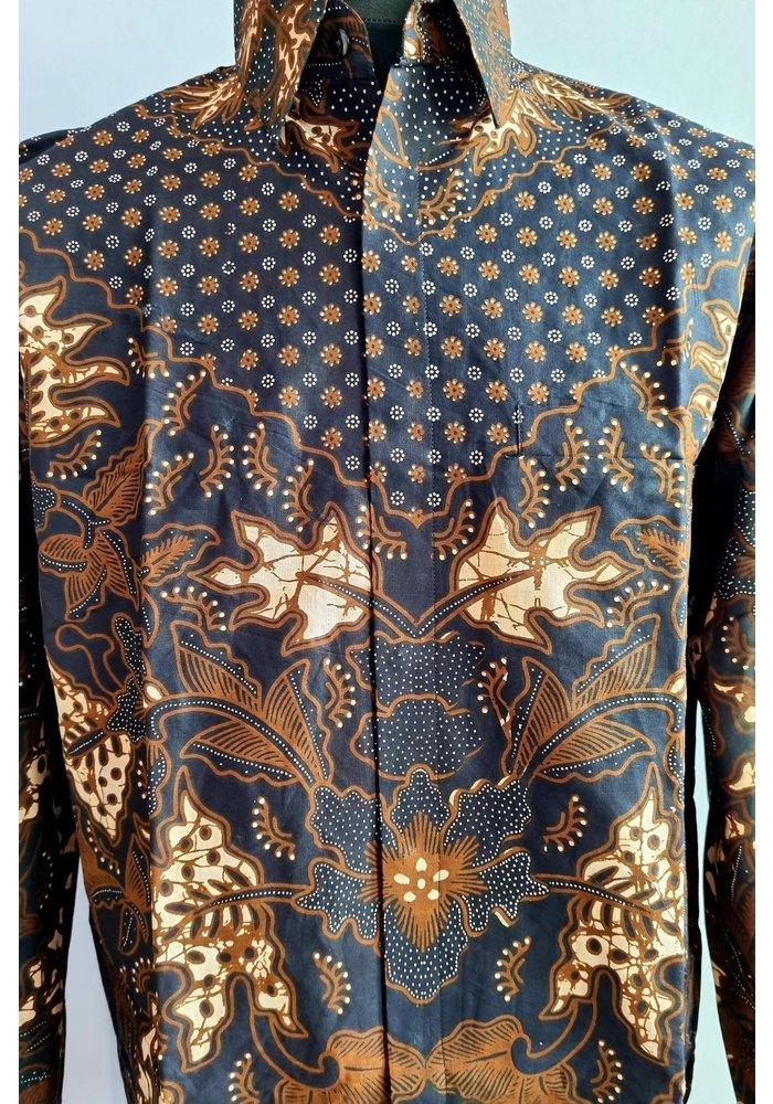 Batik overhemd lange mouw 1006-04