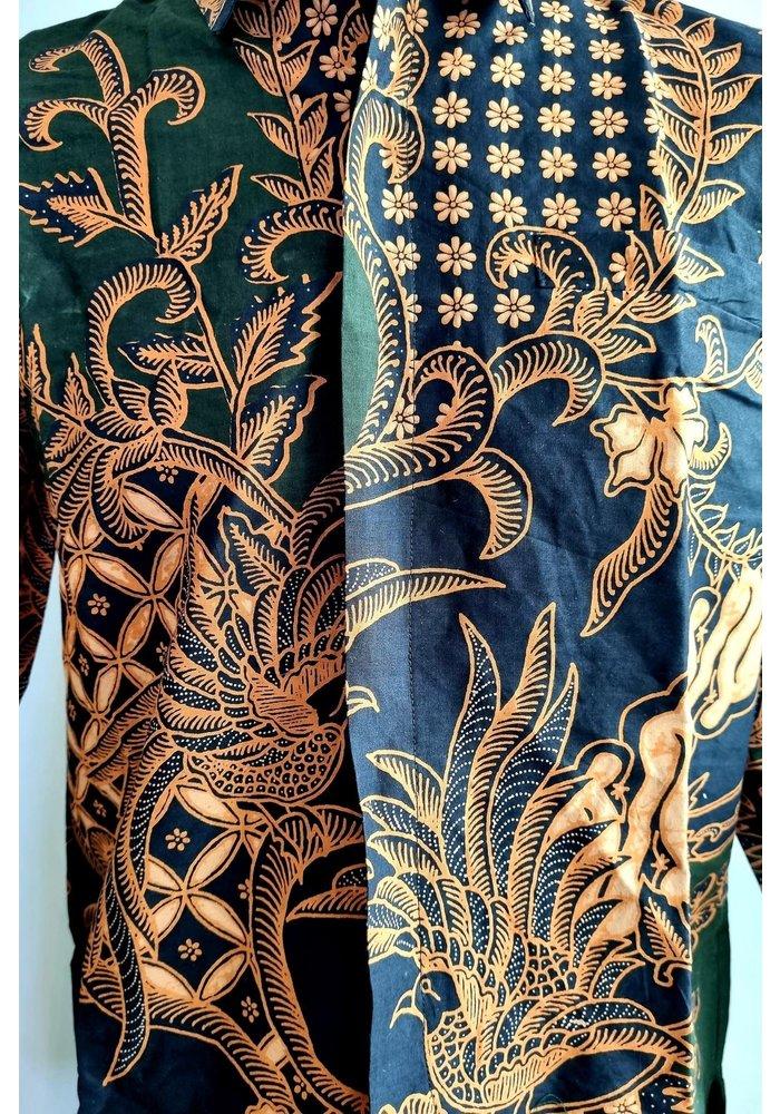 Batik overhemd lange mouw 1006-08