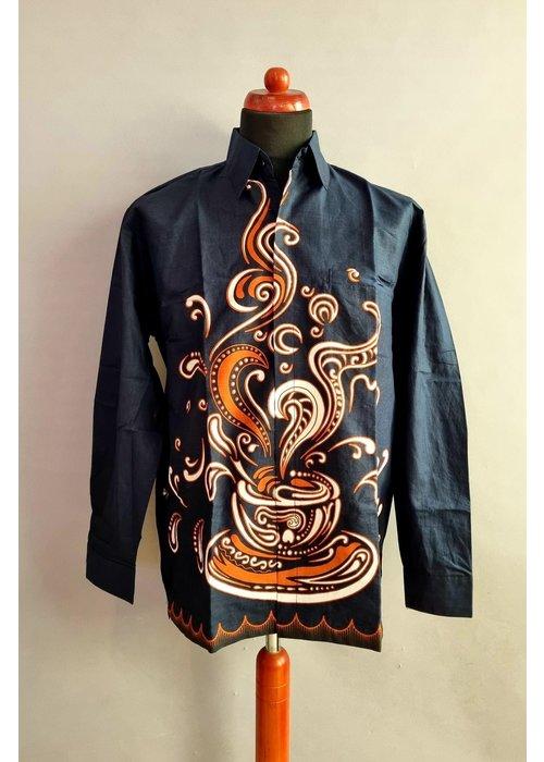 Batik overhemd lange mouw 1006-09