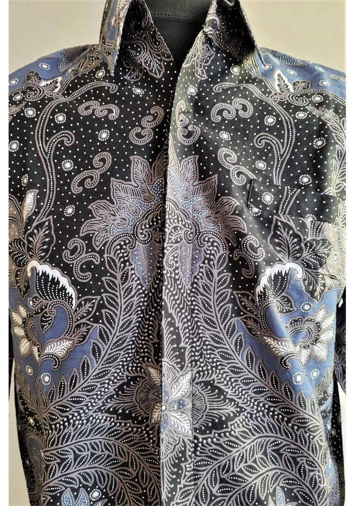 Batik overhemd lange mouw 1006-10