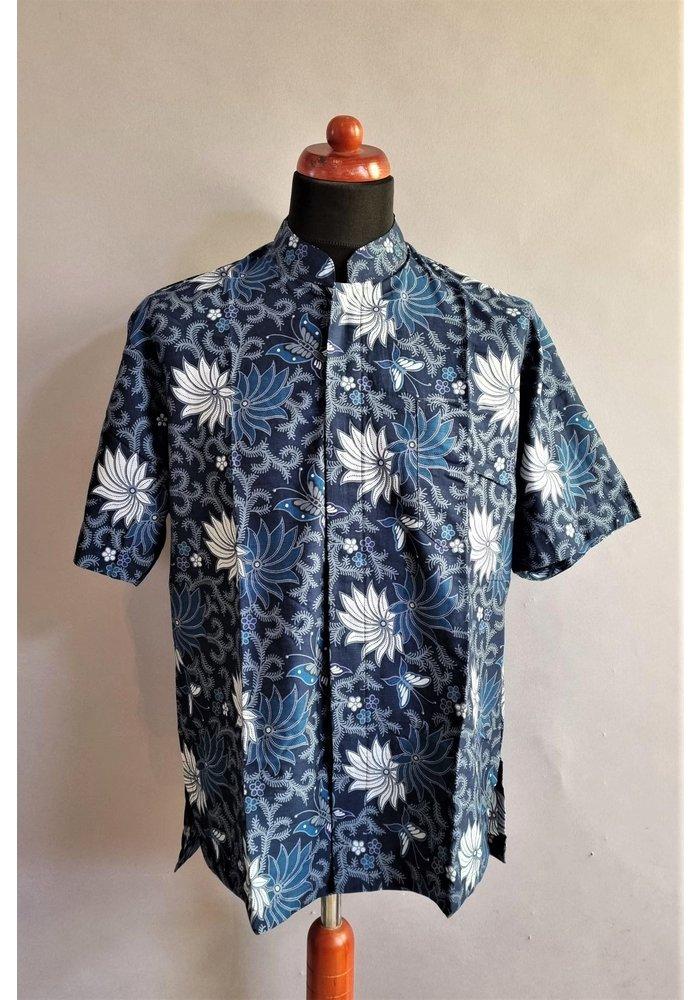 Batik overhemd korte mouw 1006-11