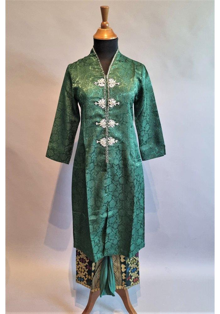 Kebaya klassiek bos groen met bijpassende sarong