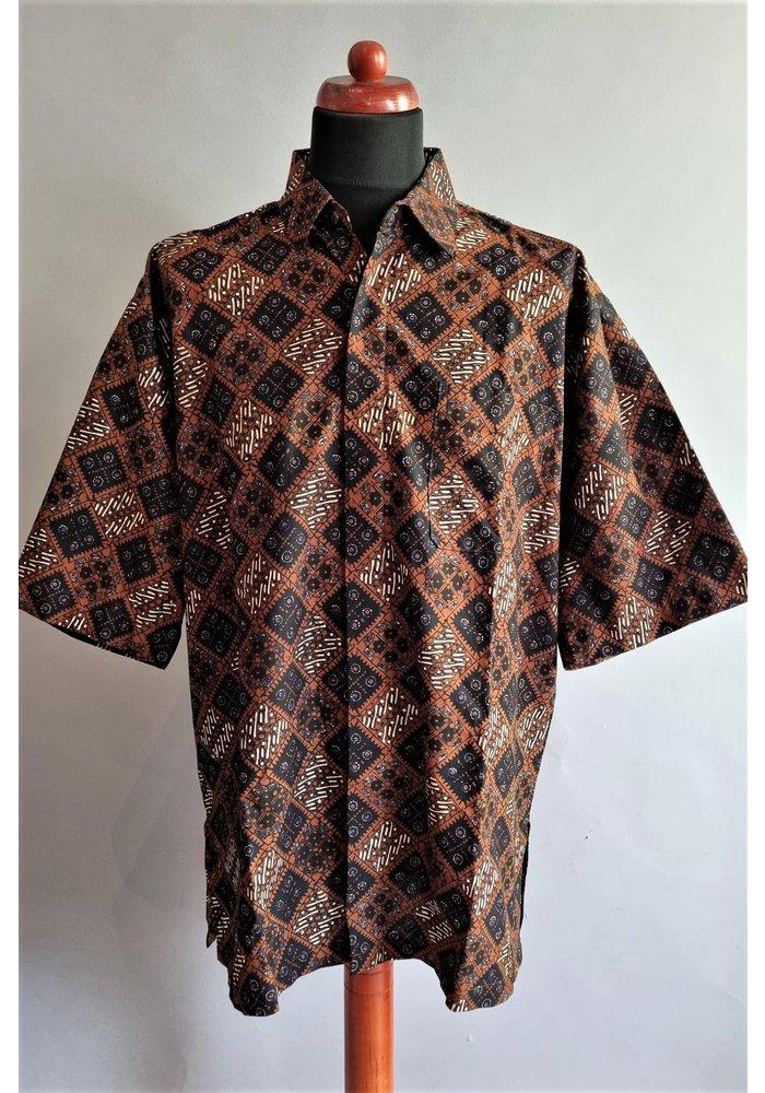 Batik overhemd korte mouw 3006-02