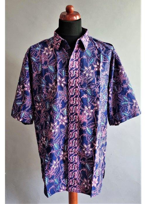 Batik overhemd korte mouw 3006-03
