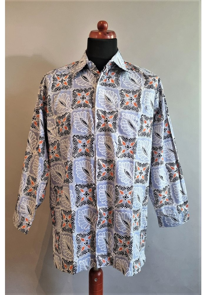 Batik overhemd lange mouw 1009-01