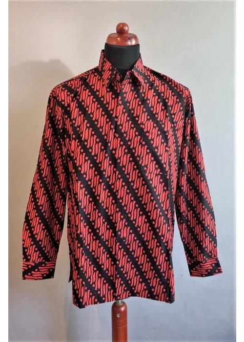 Batik overhemd lange mouw 1009-02