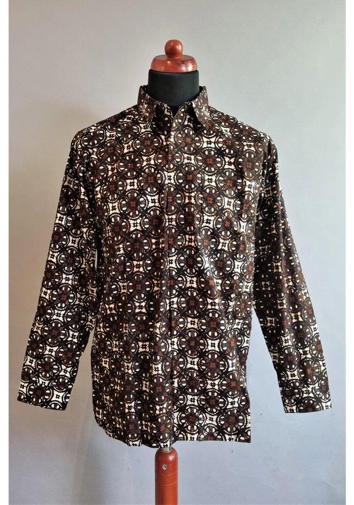 Batik overhemd lange mouw 1009-04