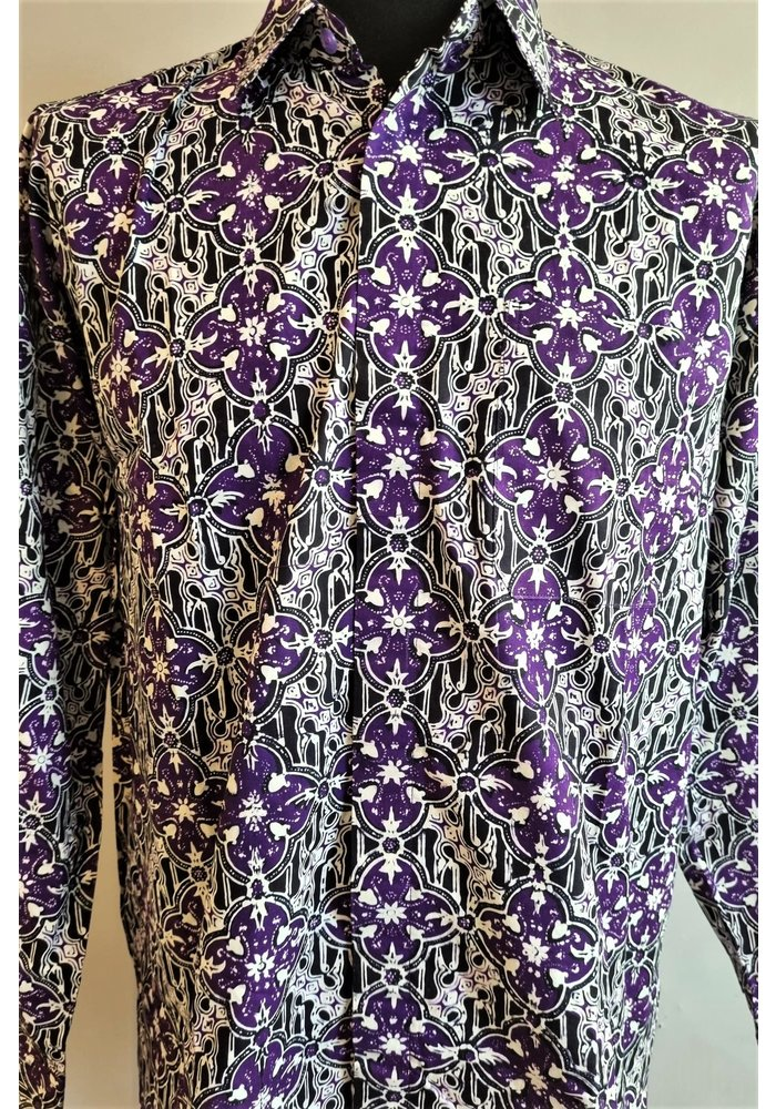 Batik overhemd lange mouw 1009-05
