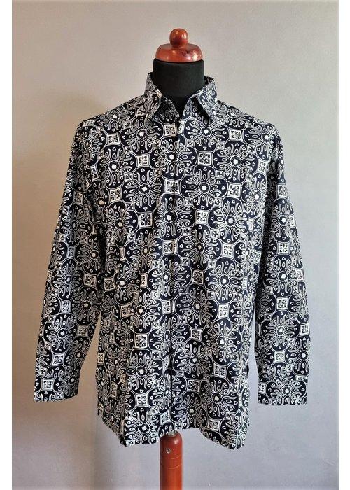 Batik overhemd lange mouw 1009-06