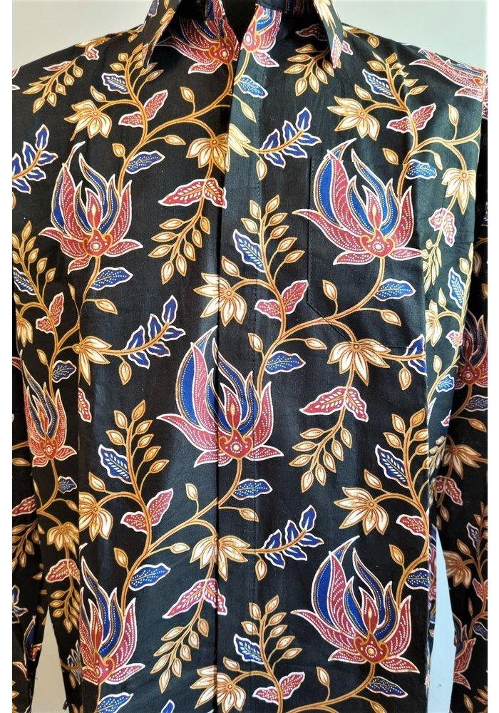 Batik overhemd lange mouw 1009-07