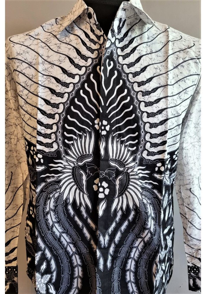Batik overhemd lange mouw 1009-09