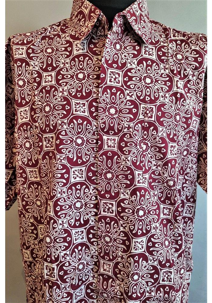 Batik overhemd korte mouw 1209-01