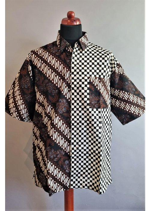 Batik overhemd korte mouw 1209-02