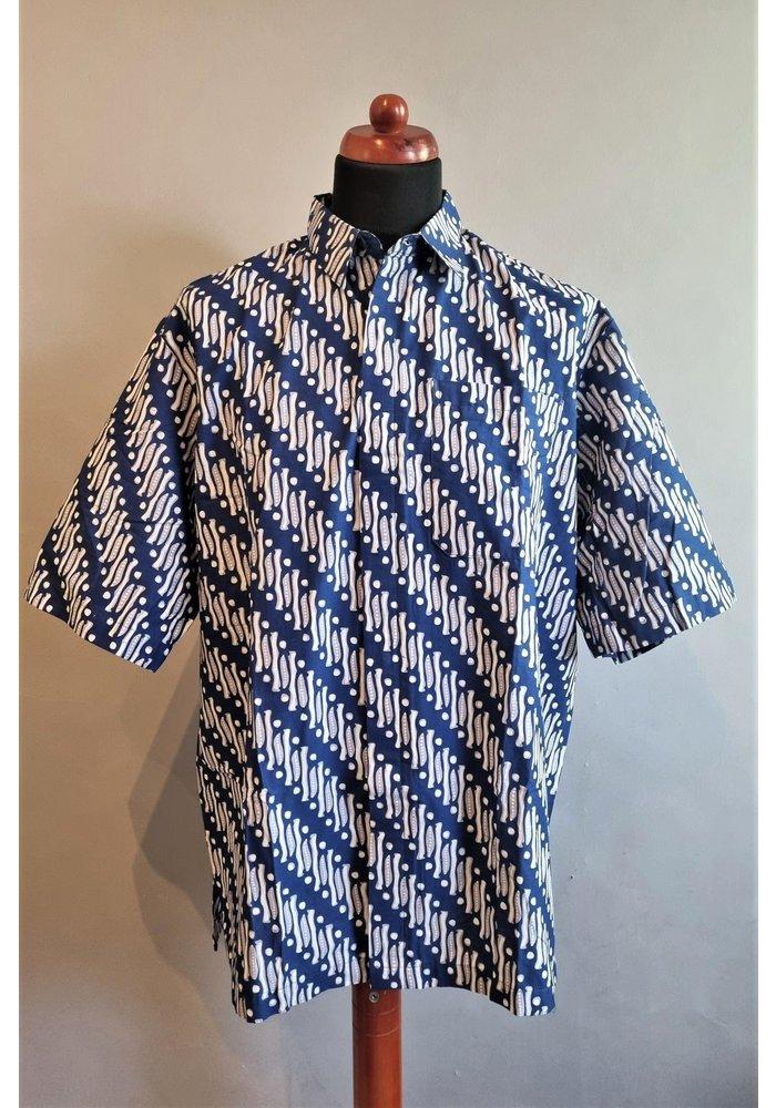 Batik overhemd korte mouw 1209-04