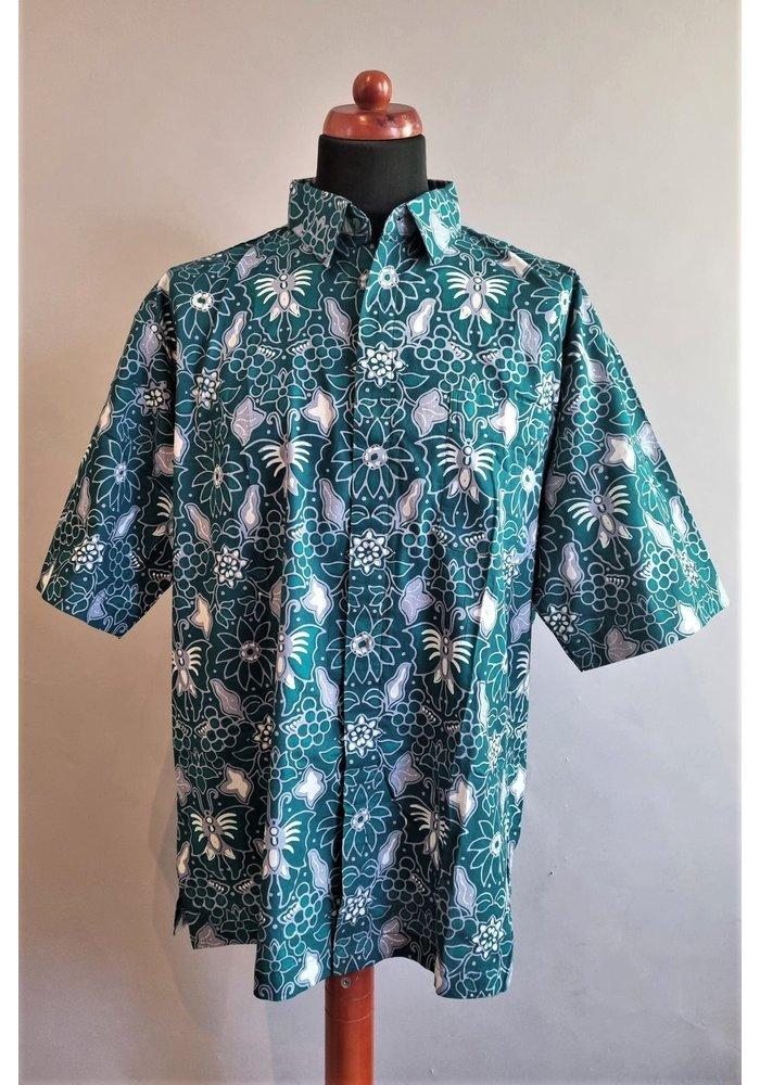Batik overhemd korte mouw 1209-05