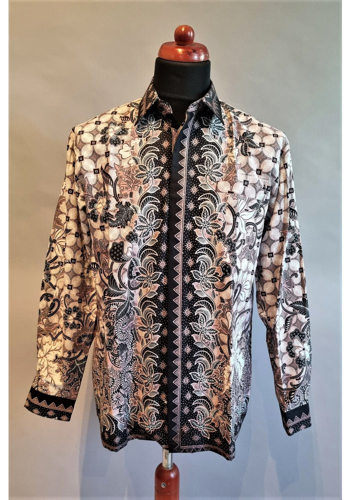 Batik overhemd lange mouw 1209-06