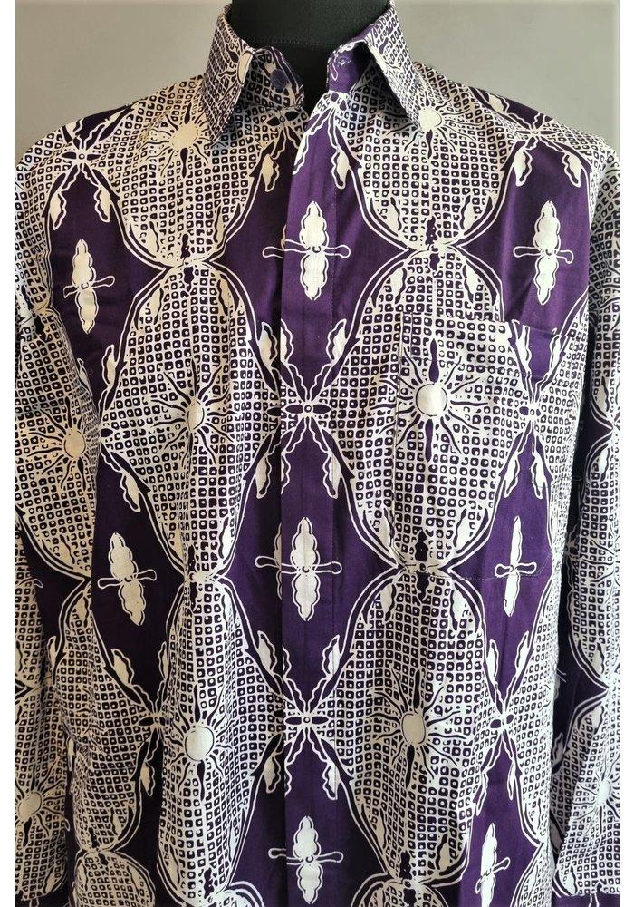 Batik overhemd lange mouw  2409-01
