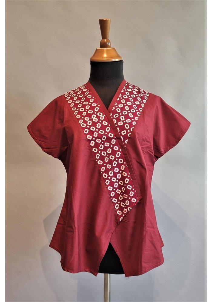 Batik blouse bordeaux