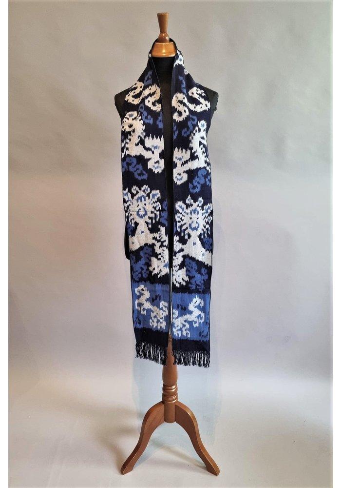 Sjaal ikat blauw