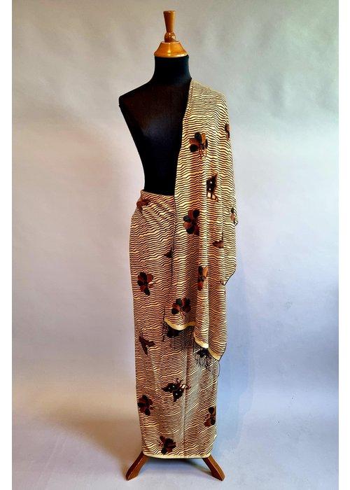 Batik stof met bijpassende selendang  1110-01