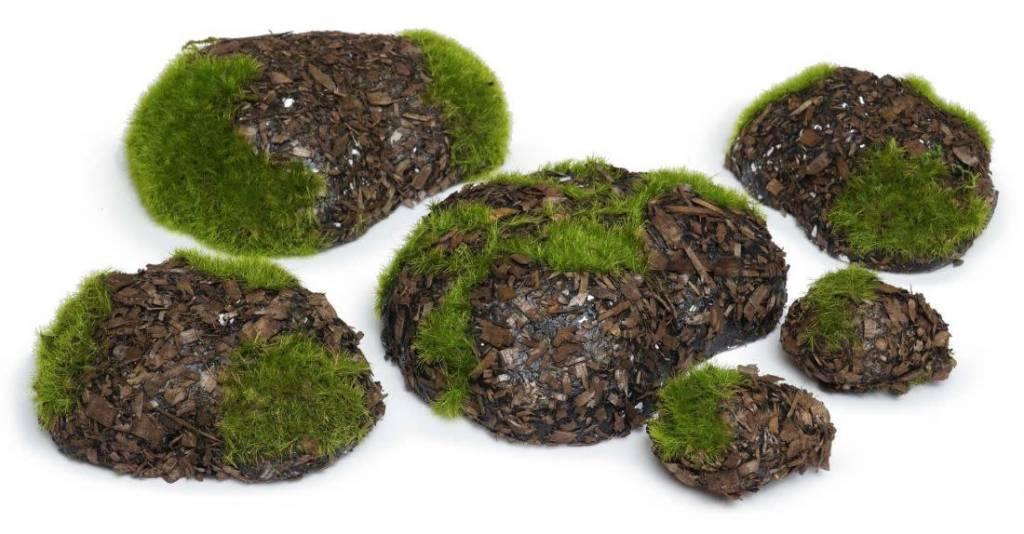 Woodland Knoll Woodland Knoll - Foam Stones Wood Chip Stone Set (6 pcs)
