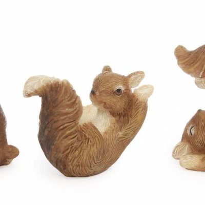 Woodland Knoll Woodland Knoll - Resin Playing Squirrels (Set of 3)