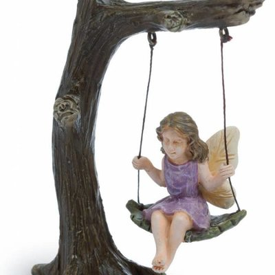 Woodland Knoll Woodland Knoll - Resin Tree Swing with Fairy