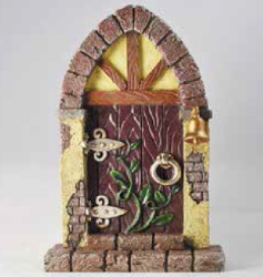 Arched Fairy Door with Bell