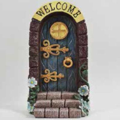 Fiesta Studios Stone Arched Fairy Door - Blue