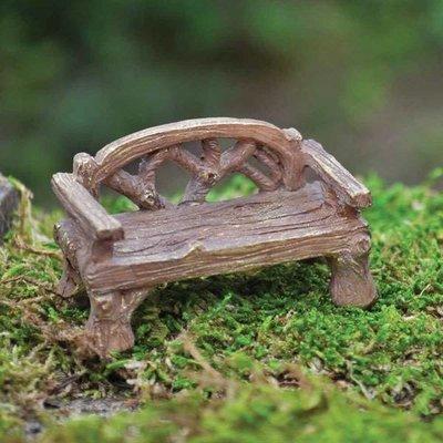 Fiddlehead Fiddlehead - Miniature Woodland Rustic Bench