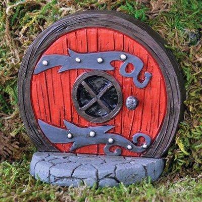 Fiddlehead Fiddlehead - Round Red Fairy Door