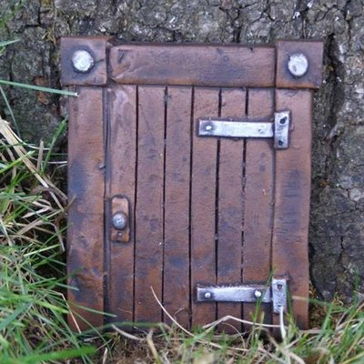 Fiddlehead Hobbit Door