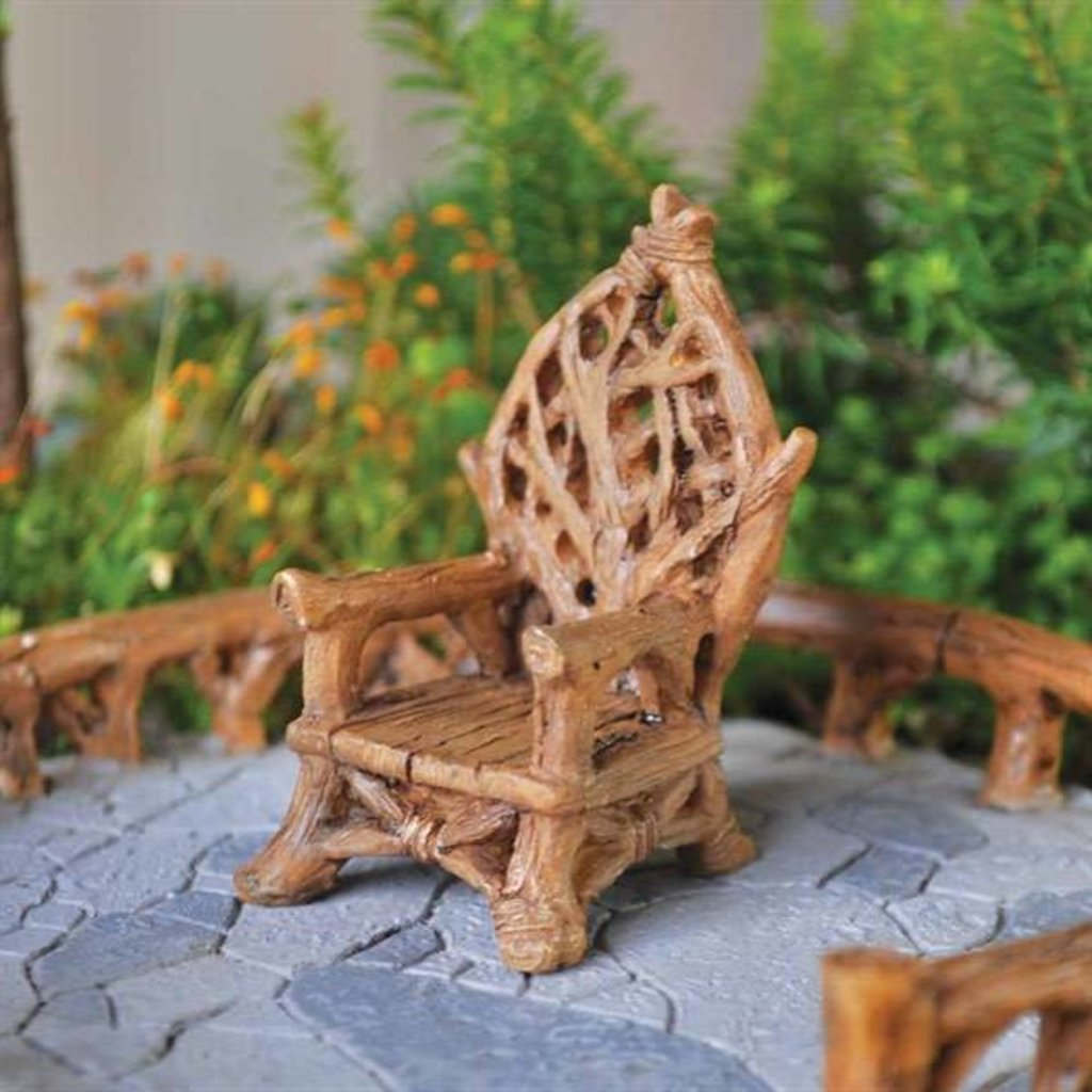 Fiddlehead Fairy Garden Collection Rustic Fairy Chair