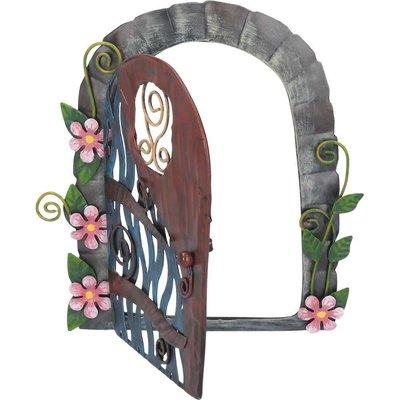 Shudehill Giftware Secret Garden Fairy Door Blue - Metal