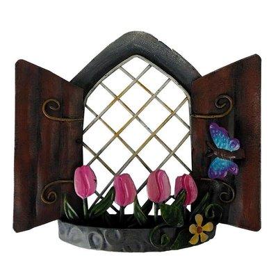 Shudehill Giftware Secret Garden Fairy Window - Tulip