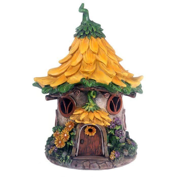 Fairy Dell Fairy Dell - Yellow Sunflower Solar House