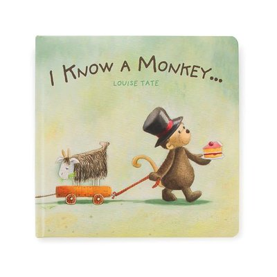Jellycat Jellycat - I Know a Monkey - Book