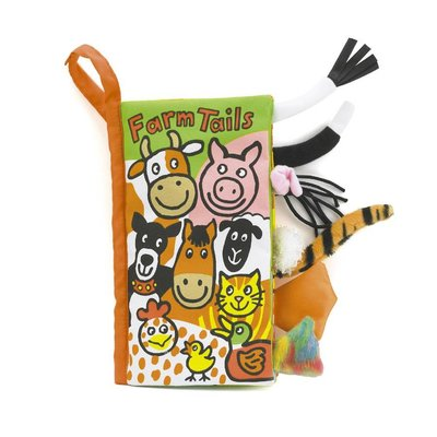 Jellycat - Soft Book Jellycat - Farm Tails - Book