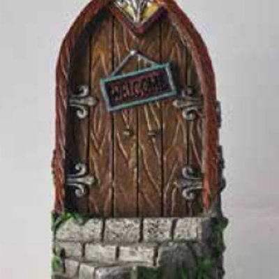 Fiesta Studios Curved Step with Brown Fairy Door
