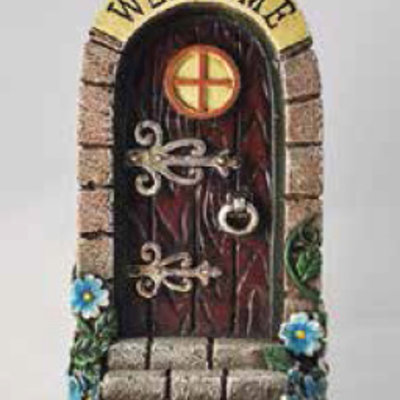 Fiesta Studios Stone Arched Fairy Door - Brown