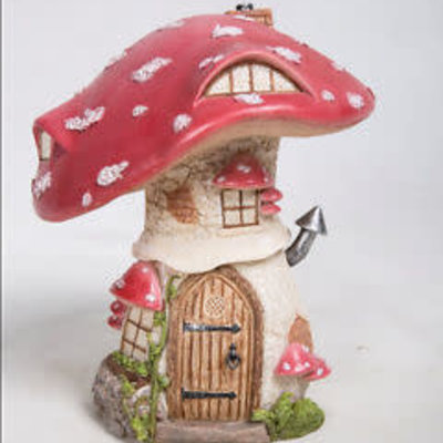 Vivid Traditional Red Toadstool Cottage